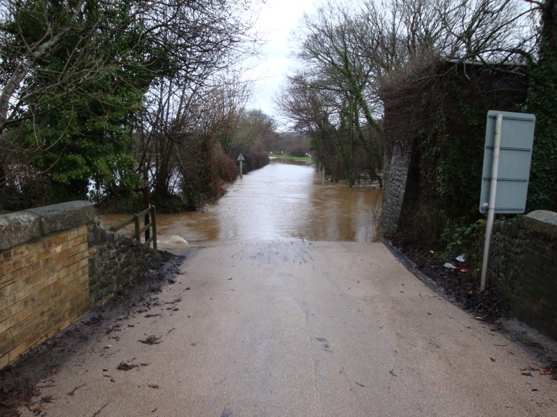 Flooding at Teigngrace