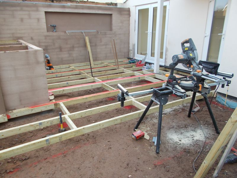 Composite decking main framework jacksons landscaping devon for Decking framework timber