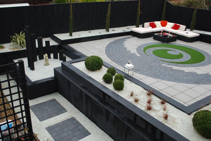 Modern landscape design Brixham Devon