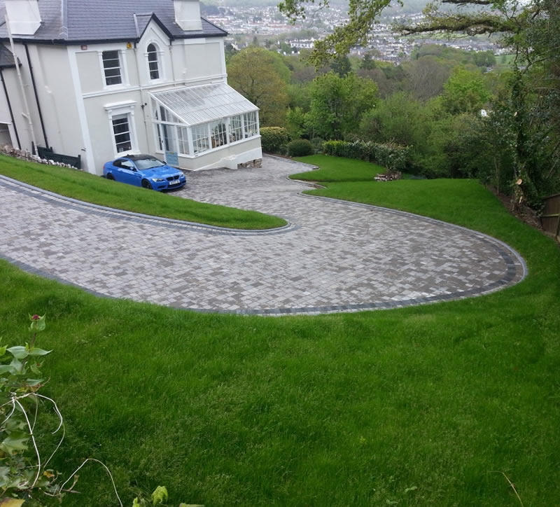 Large sweeping driveway, Newton Abbot, Devon