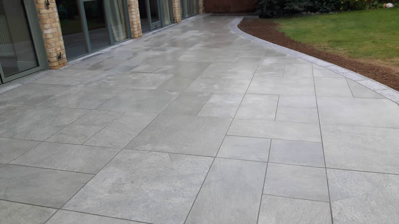 Patio Design - Porcelain paving slabs, Ogwell, Devon