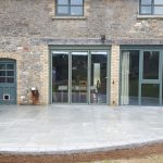 Porcelain paving installed at East Ogwell, Devon