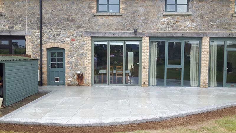 Porcelain paving installed at East Ogwell, Devon