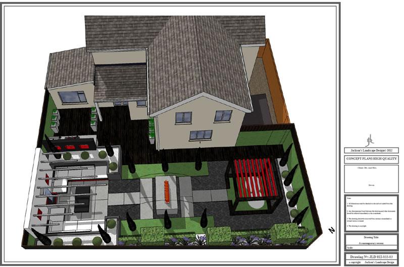 Garden design concept plans Devon