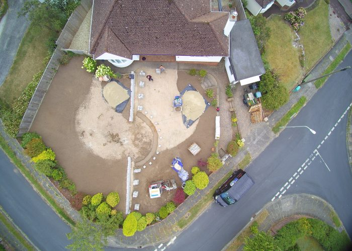 Drone data mapping garden survey