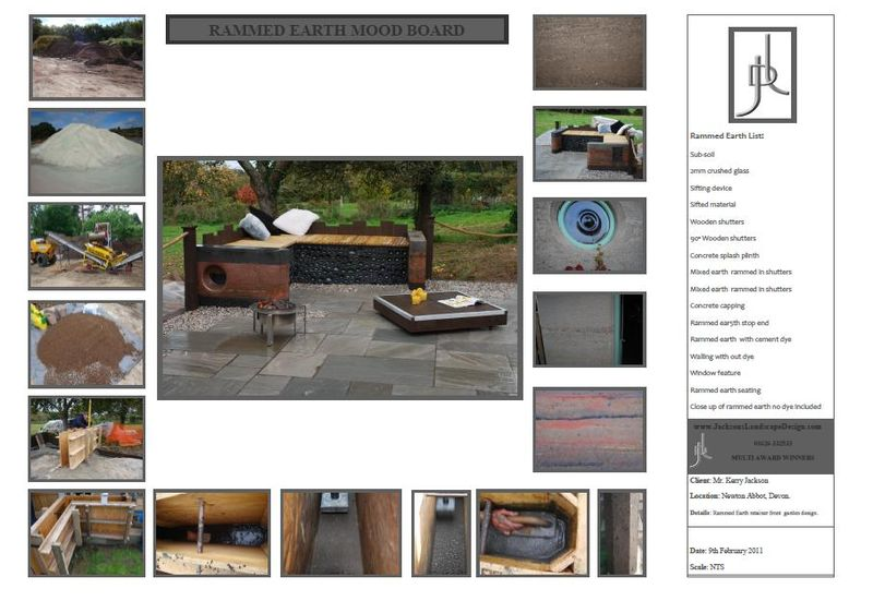 Garden design mood board