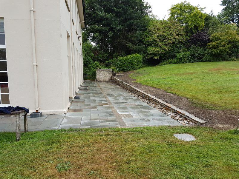 Natural stone paving, Diptford, Totnes, Devon