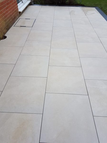 Quality Marshalls porcelain patio paving Bovey Tracey Devon