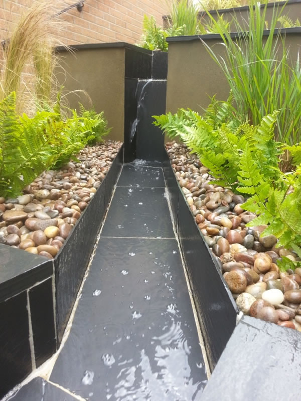 Slate water feature Abbotskerswell