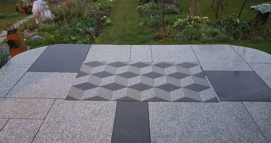 3D paving, Kingsteignton, Devon