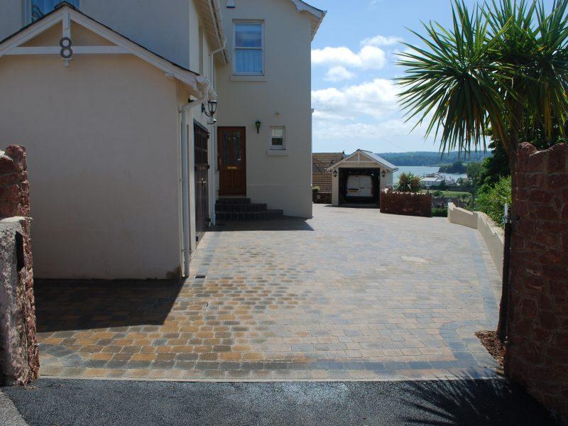 Block paved driveway Devon