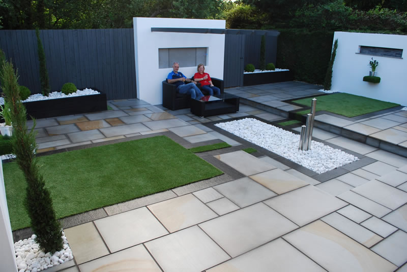 Garden design with Marshalls fairstone patio