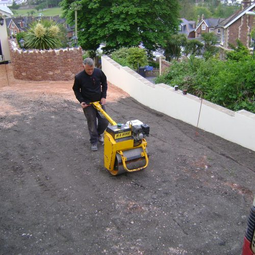 Driveway compaction and consolidate