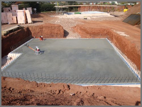 Power floating a concrete slab Devon