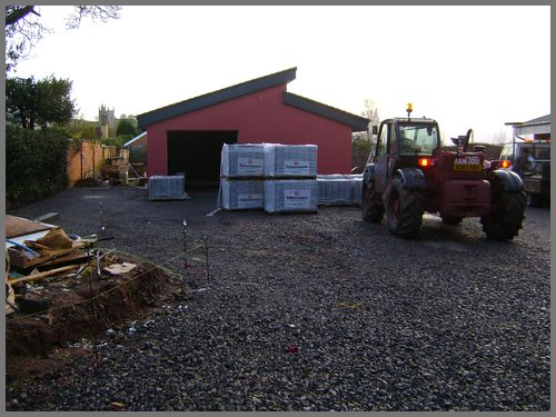 Delivery of Tobermore permeable block paving Devon