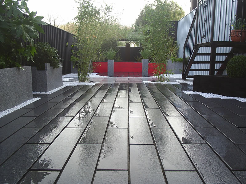 Marshalls granite eclipse dark and light patio Devon