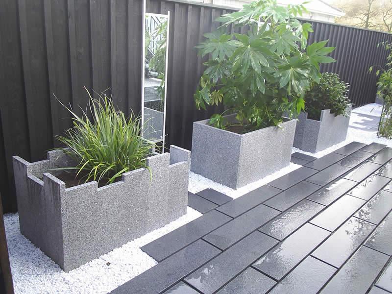 Granite paving, Granite planters Torbay Devon