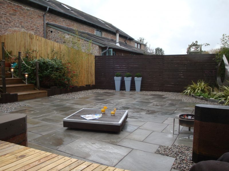 Contemporary landscaping project Devon