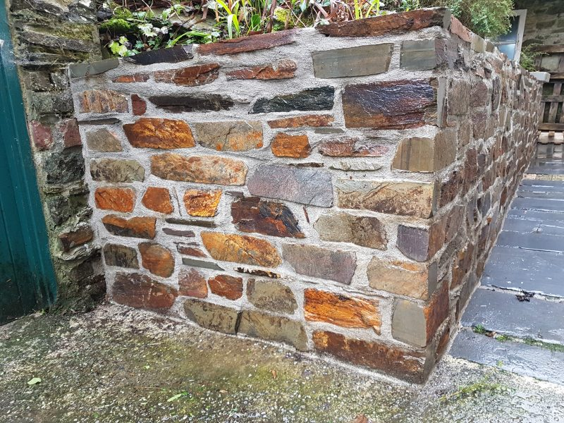 Natural stone walling Totnes, Devon