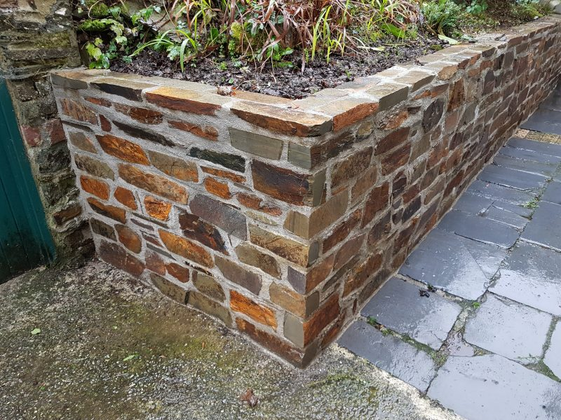 Stone retaining walls, Devon