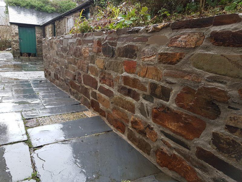 Stone walls, Diptford, Devon